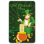 1/2 gram St. Patrick's Day Gold Bar (In Assay) .9999