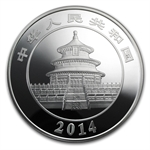 2014 1 Kilo Proof Silver Chinese Panda (w/box & CoA)