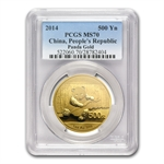 2014 1 oz Gold Chinese Panda MS-70 PCGS