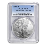 2013-W Burnished Silver Eagle - MS-70 PCGS from Unc Set