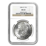 1882-1884-CC Morgan Dollars - MS-64 NGC - Carson City