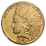 1913-S $10 Indian Gold Eagle - XF-40 NGC