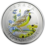 2014 Birds of Canada $0.25 Coloured – Eastern Meadowlark