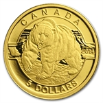 2014 1/10 oz Gold Canadian $5 - Grizzly Bear