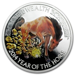 2014 1 oz Silver Australian Lunar Good Fortune Wealth Proof Coin