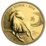 2014 Great Britain 1/10 oz Gold Year of the Horse (Brilliant Unc)