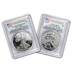 2012-S (2-Coin) Silver Eagle Set PR-70 PCGS FS Flag Label