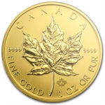 2014 1 oz Gold Canadian Maple Leaf MS-68 PCGS First Strike