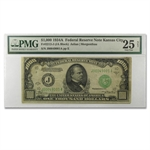 1934-A (J-Kansas City) $1,000 FRN (PMG Very Fine 25 Net)