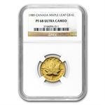 1989 1/4 oz Proof Gold Maple Leaf PF-68 NGC
