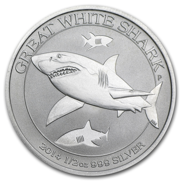 2014 1/2 oz Silver Australian Great White Shark