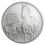 Tokelau 2014 1 oz Lunar Series - Year of the Horse BU