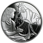 2013 Israel David Playing for Saul Proof 1 oz Silver 2 NIS Coin