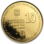 2013 Israel David Playing for Saul 1/2 oz Proof Gold Coin