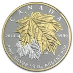2014 1/4 oz Silver Canadian $3 Maple Leaf Gilt PF-69 NGC