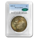 1885-O Morgan Dollar MS-63 PCGS -Attractively Toned Reverse- CAC