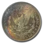 1885-O Morgan Dollar MS-64 PCGS - Prismatic Toning - CAC