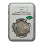 1921 Morgan Dollar - MS-63 NGC - Attractive Toning - CAC