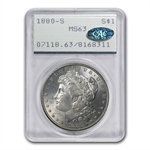 1880-S Morgan Dollar MS-63 PCGS - Attractive Toning - CAC