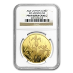 Canada 2006 $350 .99999 Gold Proof Iris Versicolor PF-69 UCAM NGC
