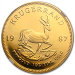 1987 GRC 1 oz Gold South African Krugerrand PF-68 UCAM NGC
