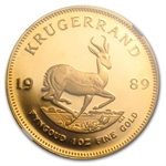 1989 1 oz Gold South African Krugerrand PF-69 UCAM NGC