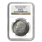 1878 7 TF Rev of 78 MS-64PL PCGS Prooflike VAM-70 Doubled RIB