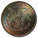 1885 Morgan Dollar MS-63 PCGS - Cerulean Toning -