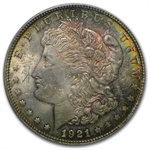 1921 Morgan Dollar - MS-62 PCGS - Phoenix Toning - CAC