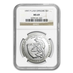 1997-P Law Enforcement $1 Silver Commemorative - MS-69 NGC