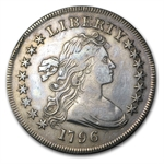 1796 Draped Bust Dollar - Almost Uncirculated Details - Polished