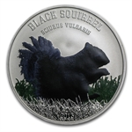Cook Islands 2013 Silver Proof Black Beauties - Black Squirrel