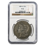1889-CC Morgan Dollar Fine-12 NGC - Nice Semi Key