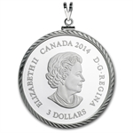 2014 1/4 oz Silver Proof Canadian $3 Jewel of Life Pendant