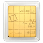 20x 1 gram Valcambi Gold CombiBar™ (In Assay) .9999 Fine