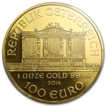 2014 Limited Edition 1 oz Proof Gold Austrian Philharmonic PR-70