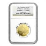 1981 1/2 oz Gold Canadian Proof -National Anthem PF-69 UCAM - NGC