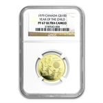 1979 1/2 oz Gold Canadian Proof-Year of the Child-PF-67 UCAM NGC