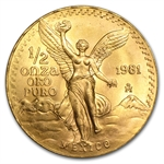 1981 1/2 oz Gold Mexican Libertad (Brilliant Uncirculated)