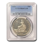 1876 Trade Dollar PR-64 Cameo PCGS - Proof