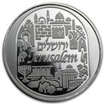 1 oz Jerusalem City of Peace Silver Round .999 Fine