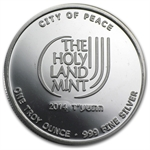 2014 1 oz Jerusalem City of Peace Silver Round .999 Fine