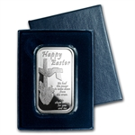1 oz 2014 Happy Easter Cross Silver Bar (w/Box & Capsule)