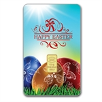 1/2 gram Happy Easter Gold Bar (In Assay) .9999