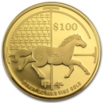 2014 Singapore Year of the Horse 1 oz Gold Proof Coin
