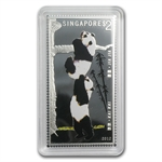 2012 1 oz Giant Pandas Silver Minted Stamp