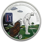 Cook Islands 2014 Proof Silver $5 PGA Tour - Golf Bag