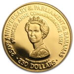 Bahamas 1979 Two Hundred-Fifty Dollar Gold Coin (Proof)