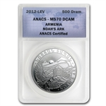 2013 1 oz Silver Armenia 500 Drams Noah's Ark Coin MS-70 ANACS
