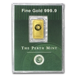 1 gram Perth Mint Gold Bar .9999 Fine (Old Style Swan)